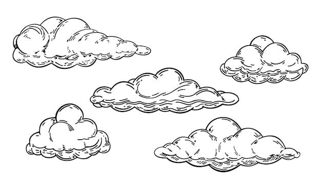 Set di schizzi di cloud