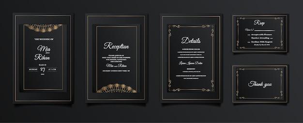 Impostare la raccolta elegante salva la carta di invito a nozze data