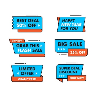 Set collection sale banner template design, big sale special offer.