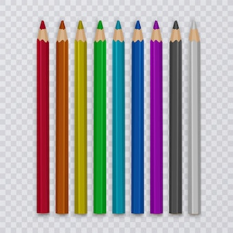 Set di matite colorate per disegnare, strumenti per la creatività e le scuole