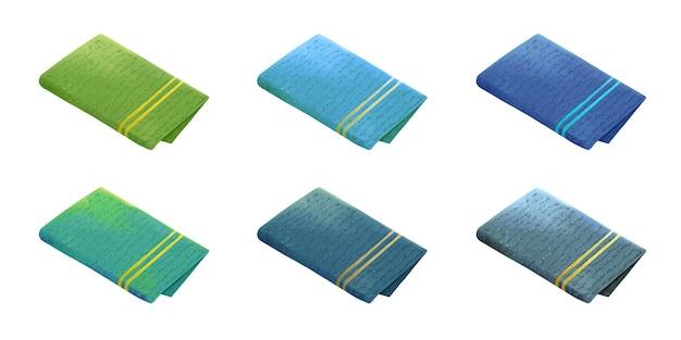 Set asciugamani in spugna colorati