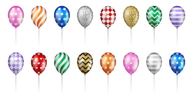 Set di palloncini colorati per festa e compleanno