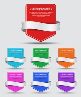 Set di striscioni colorati con nastro