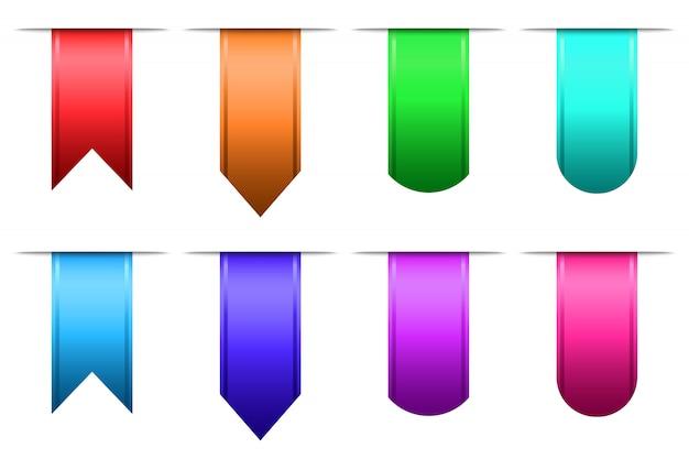 Set di segnalibri colorati
