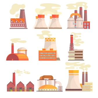 Serie di illustrazioni colorate su sfondo bianco