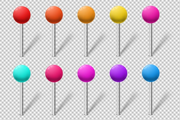 Set di indicatori di mappa colorati