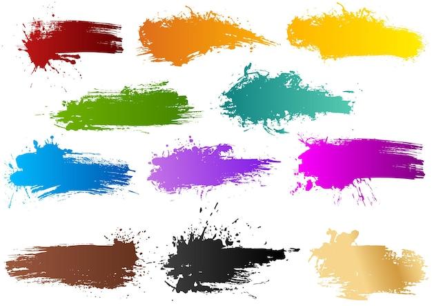 Set di striscioni colorati ad acquerello