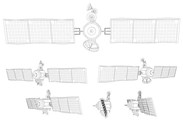 Impostato. satellite per comunicazioni dell'orbita vicina alla terra