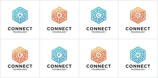 Set di modelli di logo di connessione