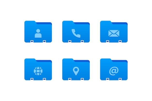 Set di icone di contatto