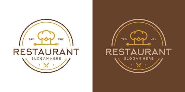 Set di modello di progettazione di logo di cibo da cucina.
