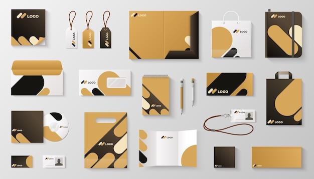 Set di branding di identità aziendale