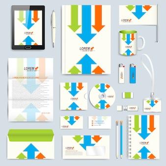 Set di modello di identità aziendale.