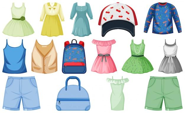 Insieme di oggetti in costume