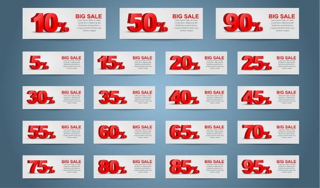 Set di banner coupon