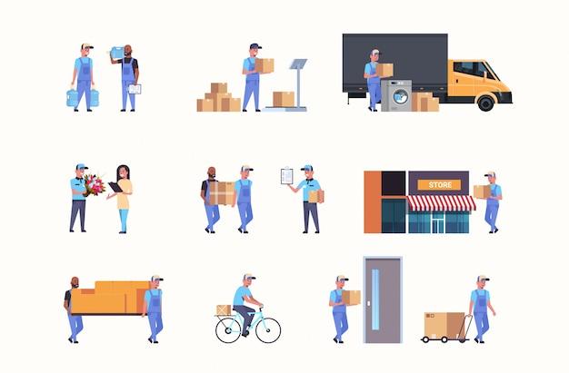 Impostare corrieri in diverse situazioni lavorative esprimere la consegna del servizio di consegna