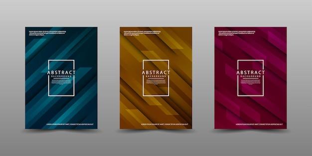 Set di modelli di copertina con stile di movimento
