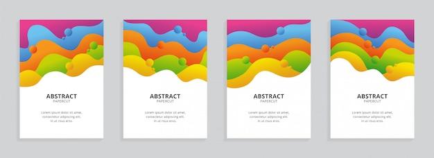 Set di copertine con forme ondulate colorate