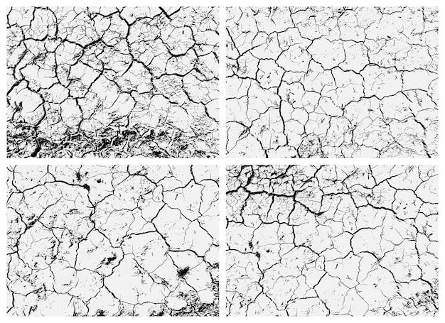 Set di texture di terra screpolata