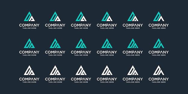 Set di modello di progettazione di logo da lettera monogramma astratto creativo