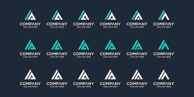 Set di modello di logo ia lettera monogramma astratto creativo