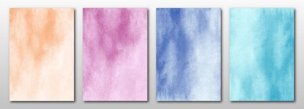 Set di sfondo di arti dell'acquerello astratto dipinto a mano creativo.