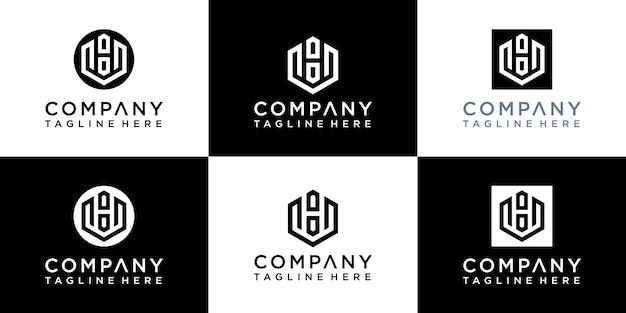 Set di modelli di logo creativo lettera w