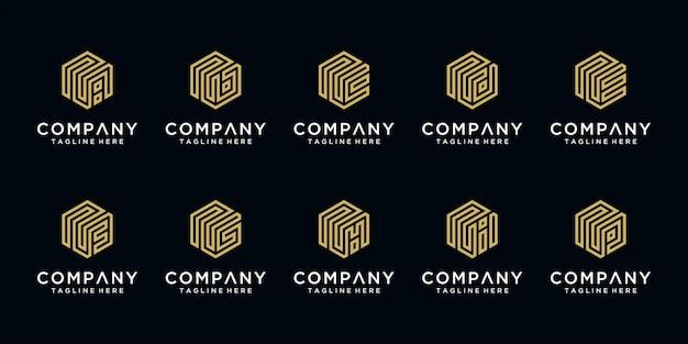 Set di loghi di lettere creative