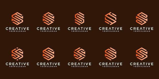 Set di loghi di lettera s di lusso creativo