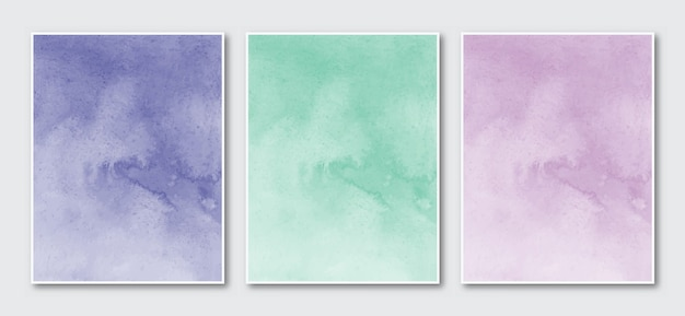Set di acquerello astratto dipinto a mano minimalista creativo.