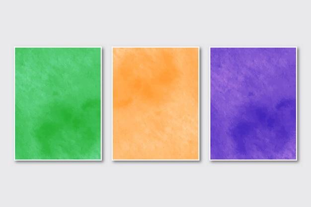 Set di acquerello di carte dipinte a mano minimalista creativo