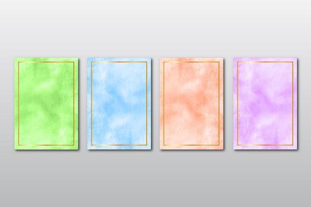 Set di invito a nozze dipinto a mano minimalista creativo con sfondo astratto di arti dell'acquerello
