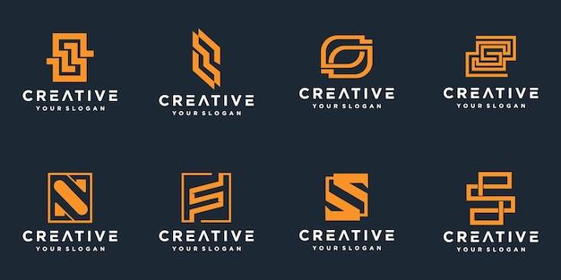 Set di loghi creativi monogramma lettera s