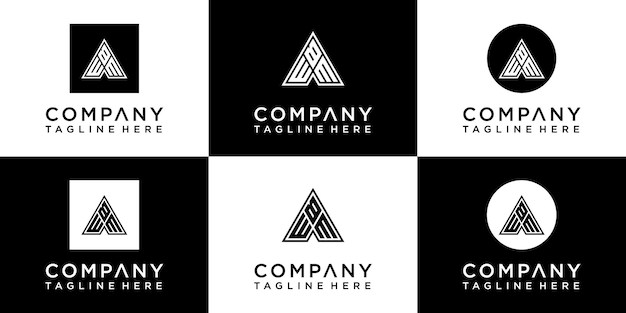Set di design del logo monogramma creativo