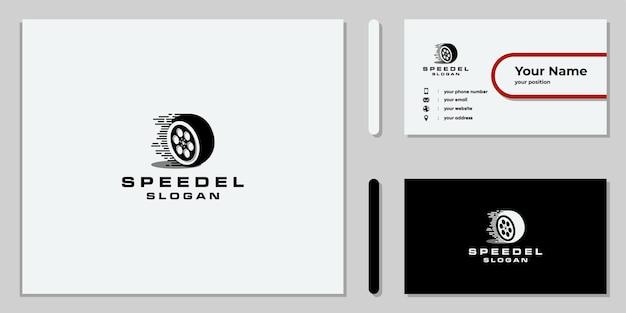 Set di design creativo del logo della velocità del numero di giri