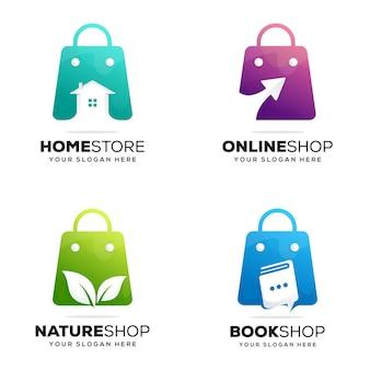 Imposta il modello di logo del negozio creativo