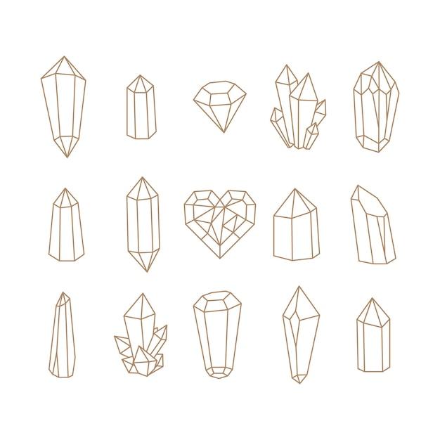 Set di cristalli.