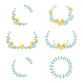Set di cornici floreali delicati carino