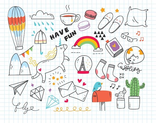 Set di simpatici doodle