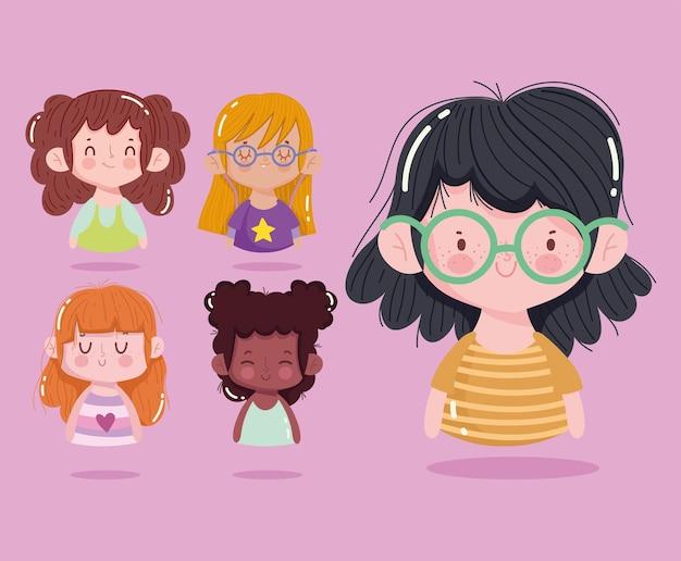 Set di ragazze carine