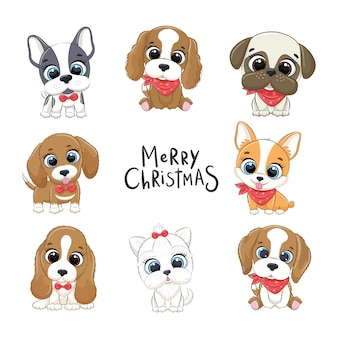 Set di simpatici cuccioli