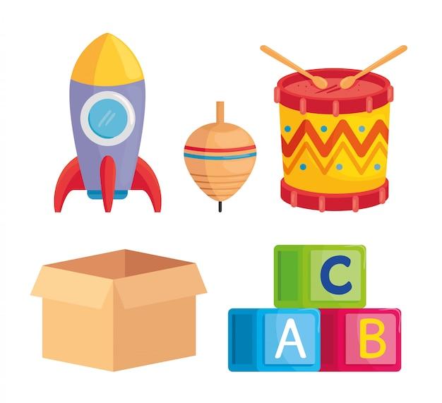 Set di simpatici giocattoli per bambini