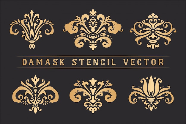 Set di stencil damascato