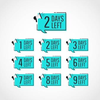 Impostare giorni rimanenti tag set