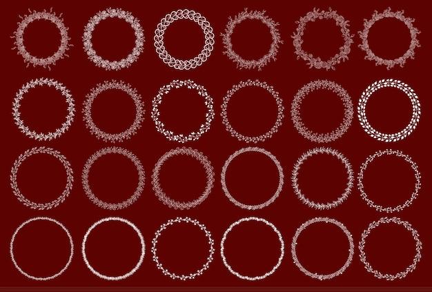 Set di ghirlande decorative. illustrazione vettoriale