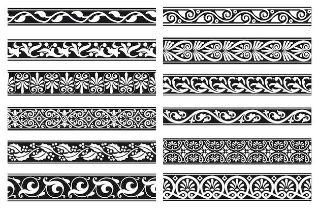 Set di bordo ornamentale senza giunte floreale decorativo