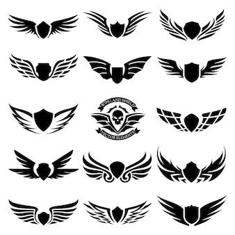 Set di elementi di design. disegno per icona e logo ala