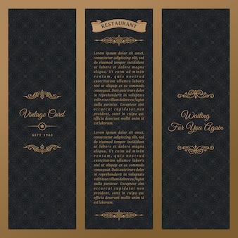 Set di etichette di design, cornici, packaging di lusso