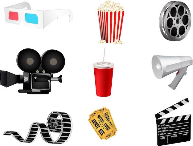 Set di icone del film dettagliate
