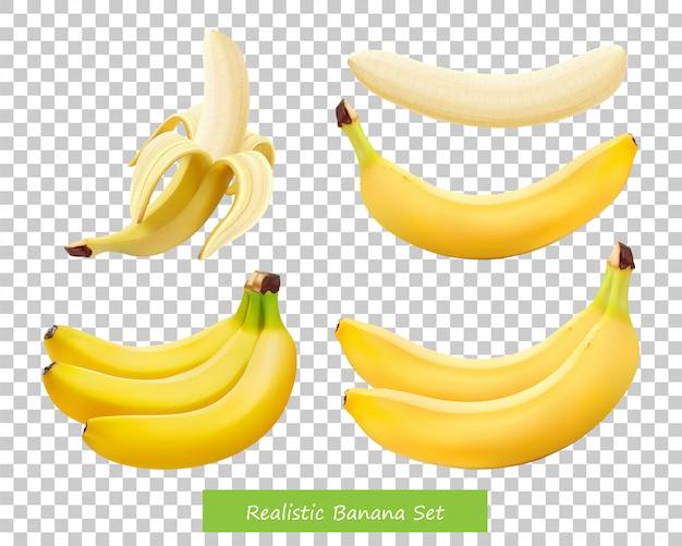 Set di diverse banane